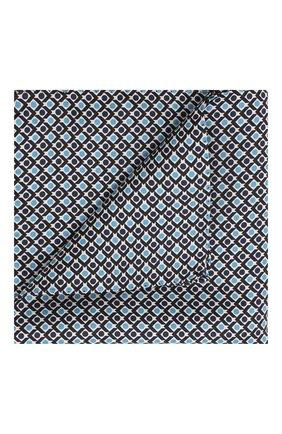 Мужской шелковый платок BOSS синего цвета, арт. 50434810 | Фото 1