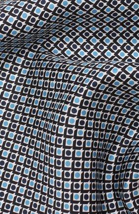 Мужской шелковый платок BOSS синего цвета, арт. 50434810 | Фото 2