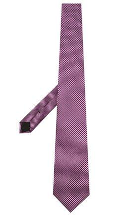 Мужской шелковый галстук BOSS фиолетового цвета, арт. 50434725 | Фото 2