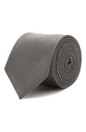 Мужской шелковый галстук BOSS черно-белого цвета, арт. 50434789 | Фото 1