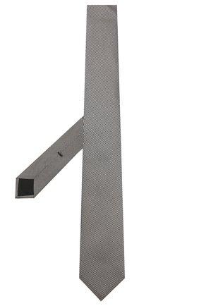 Мужской шелковый галстук BOSS черно-белого цвета, арт. 50434789 | Фото 2