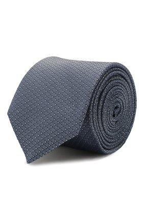 Мужской шелковый галстук HUGO синего цвета, арт. 50434536 | Фото 1