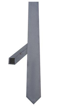 Мужской шелковый галстук HUGO синего цвета, арт. 50434536 | Фото 2