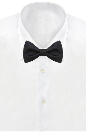 Мужской шелковый галстук-бабочка HUGO темно-синего цвета, арт. 50434606 | Фото 2