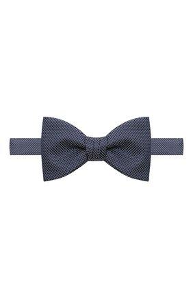 Мужской шелковый галстук-бабочка HUGO синего цвета, арт. 50434588 | Фото 1