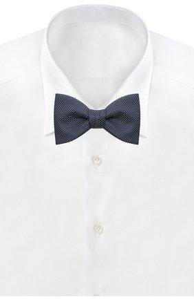 Мужской шелковый галстук-бабочка HUGO синего цвета, арт. 50434588 | Фото 2