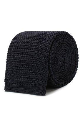Мужской шелковый галстук BOSS темно-синего цвета, арт. 50433962 | Фото 1