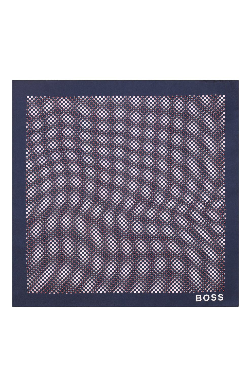 Мужской шелковый платок BOSS темно-синего цвета, арт. 50434750 | Фото 3