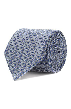 Мужской шелковый галстук BOSS голубого цвета, арт. 50434739 | Фото 1