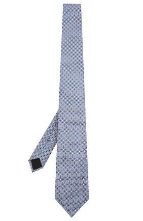 Мужской шелковый галстук BOSS голубого цвета, арт. 50434739 | Фото 2