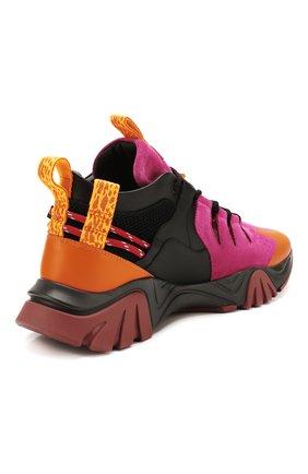 Мужские комбинированные кроссовки squalo hiker VERSACE разноцветного цвета, арт. DSU7886/DCRVIMG | Фото 4 (Материал внешний: Кожа; Материал внутренний: Натуральная кожа; Стили: Гранж; Подошва: Массивная)