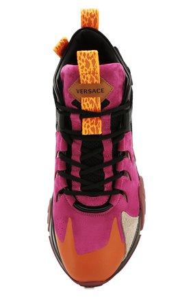 Мужские комбинированные кроссовки squalo hiker VERSACE разноцветного цвета, арт. DSU7886/DCRVIMG | Фото 5 (Материал внешний: Кожа; Материал внутренний: Натуральная кожа; Стили: Гранж; Подошва: Массивная)