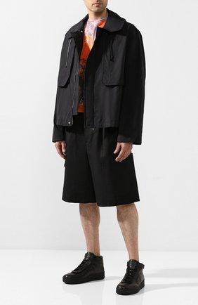 Мужские кожаные кеды JIL SANDER черного цвета, арт. JI34531A-11561 | Фото 2
