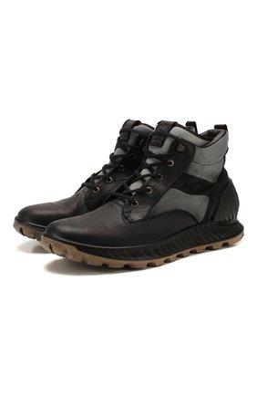Мужские комбинированные кроссовки STONE ISLAND черного цвета, арт. 7215S0796 | Фото 1