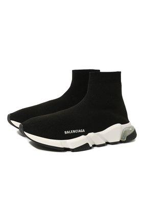 Мужские текстильные кроссовки speed BALENCIAGA черного цвета, арт. 607544/W05GG | Фото 1