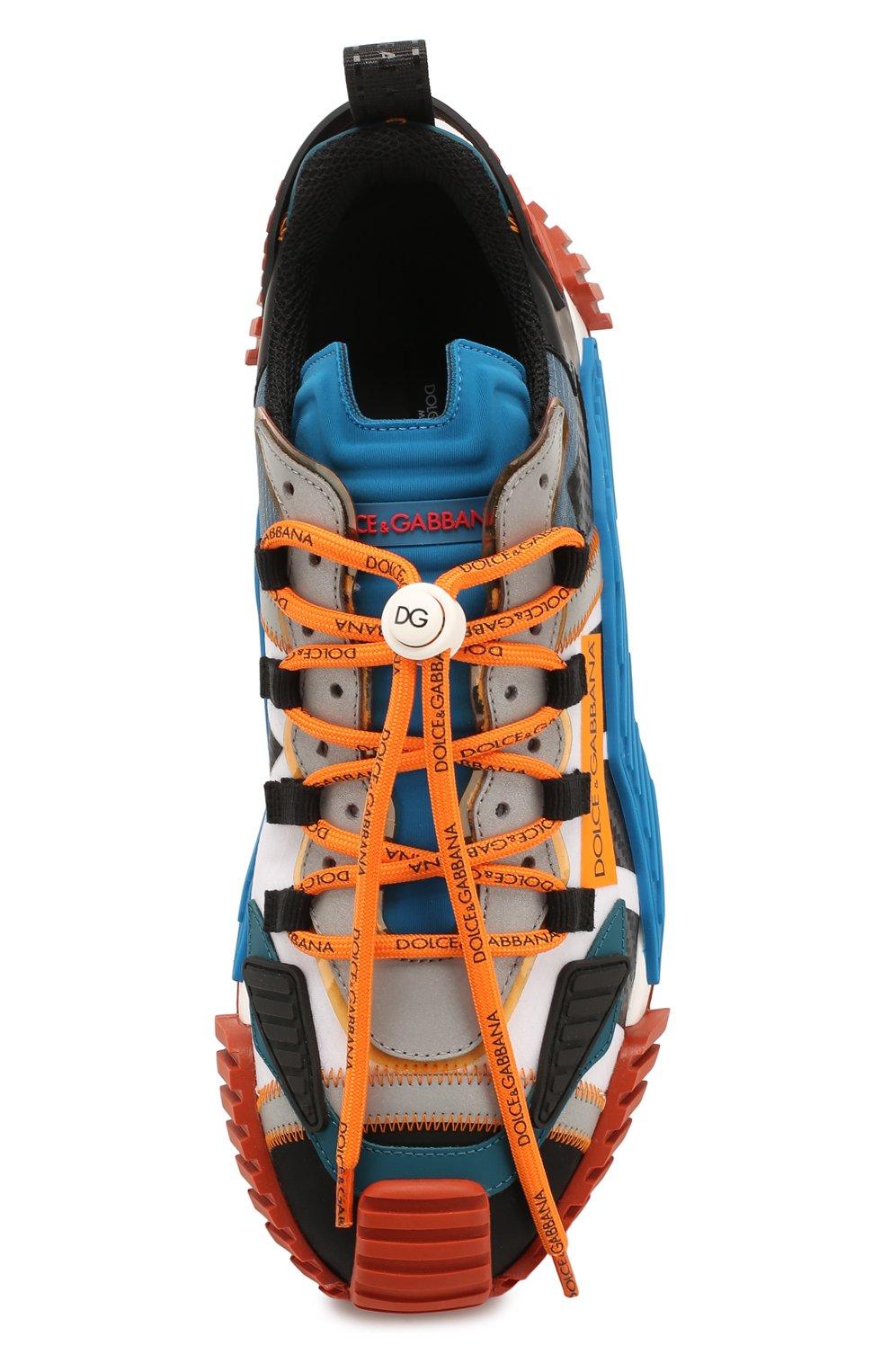 Мужские комбинированные кеды ns1 DOLCE & GABBANA оранжевого цвета, арт. CS1770/AJ982 | Фото 5