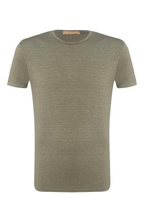 Мужская льняная футболка DANIELE FIESOLI хаки цвета, арт. DF 1235 | Фото 1