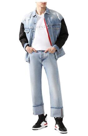 Мужская хлопковая футболка GIVENCHY белого цвета, арт. BM70WV3002 | Фото 2