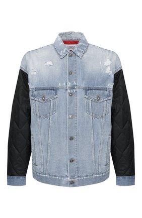 Мужская комбинированная куртка GIVENCHY голубого цвета, арт. BM00FT50D9 | Фото 1
