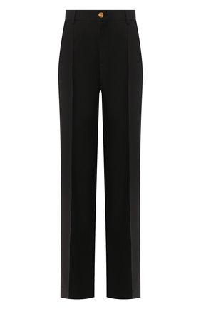 Женские брюки из шелка и шерсти GUCCI черного цвета, арт. 609657/ZAD88 | Фото 1