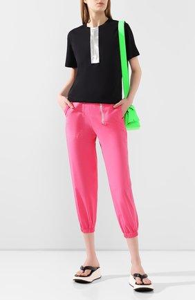 Женские хлопковые джоггеры MARC JACOBS (THE) розового цвета, арт. V4000016 | Фото 2