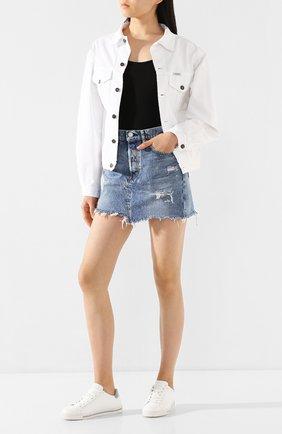 Женская джинсовая куртка FORTE DEI MARMI COUTURE белого цвета, арт. 20SF5354-03 | Фото 2