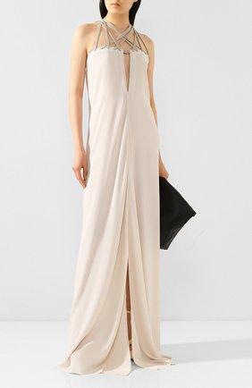 Женское платье-макси RICK OWENS белого цвета, арт. R020S1552/CCTEW3   Фото 2