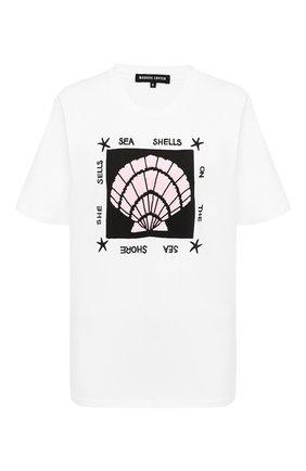 Женская хлопковая футболка MARKUS LUPFER белого цвета, арт. TEE391 | Фото 1