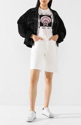 Женская хлопковая футболка MARKUS LUPFER белого цвета, арт. TEE391 | Фото 2