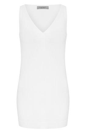 Женский топ из вискозы D.EXTERIOR белого цвета, арт. 50015   Фото 1