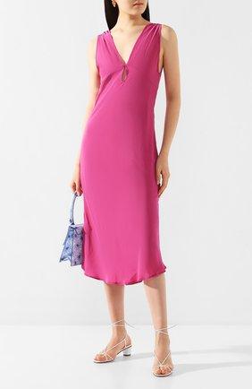 Женское шелковое платье IRO фуксия цвета, арт. WM33M0RPHEE | Фото 2