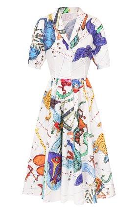 Женское хлопковое платье STELLA JEAN белого цвета, арт. 20E/J/WM/AB33/0371 | Фото 1