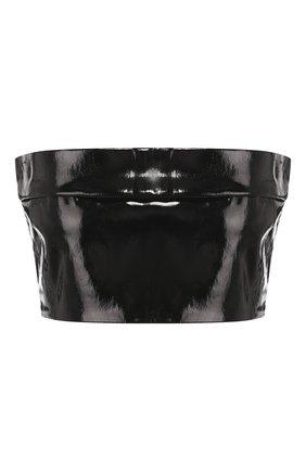Женская кожаный топ ANN DEMEULEMEESTER черного цвета, арт. 2001-1831-286-099   Фото 1