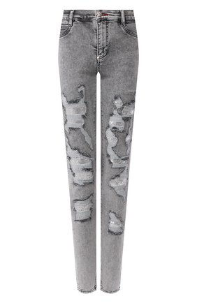 Женские джинсы PHILIPP PLEIN серого цвета, арт. P20C WDT1355 PDE004N | Фото 1