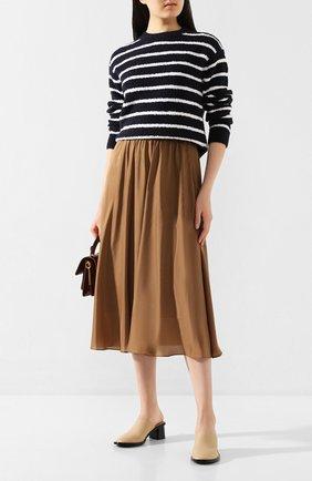 Женский хлопковый пуловер VINCE черно-белого цвета, арт. V656278411 | Фото 2