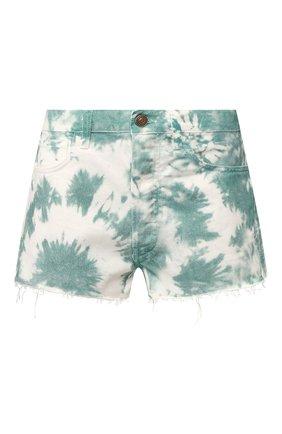 Женские джинсовые шорты ALANUI зеленого цвета, арт. LWYC001S20DEN002 | Фото 1