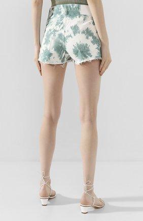 Женские джинсовые шорты ALANUI зеленого цвета, арт. LWYC001S20DEN002   Фото 4 (Женское Кросс-КТ: Шорты-одежда; Кросс-КТ: Деним; Длина Ж (юбки, платья, шорты): Мини; Материал внешний: Хлопок; Стили: Кэжуэл)