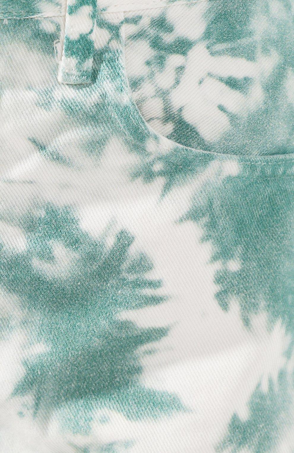 Женские джинсовые шорты ALANUI зеленого цвета, арт. LWYC001S20DEN002   Фото 5 (Женское Кросс-КТ: Шорты-одежда; Кросс-КТ: Деним; Длина Ж (юбки, платья, шорты): Мини; Материал внешний: Хлопок; Стили: Кэжуэл)