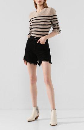 Женские джинсовые шорты 3X1 черного цвета, арт. WSX4S0866/TR0Y | Фото 2