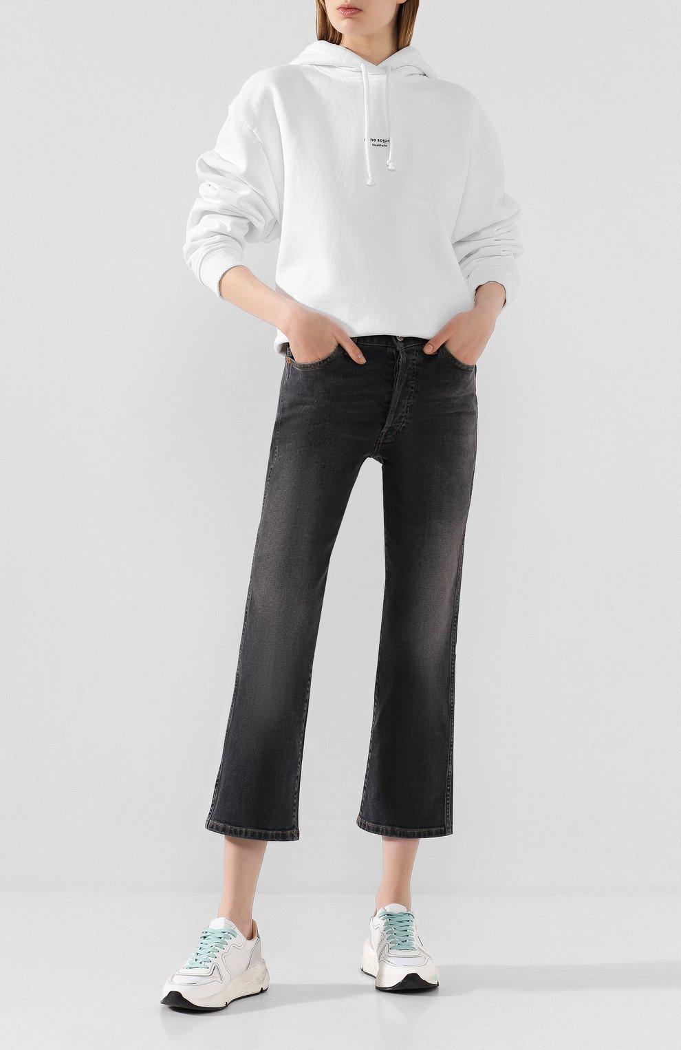 Женские джинсы 3X1 серого цвета, арт. WP0270966/TRAVIS | Фото 2