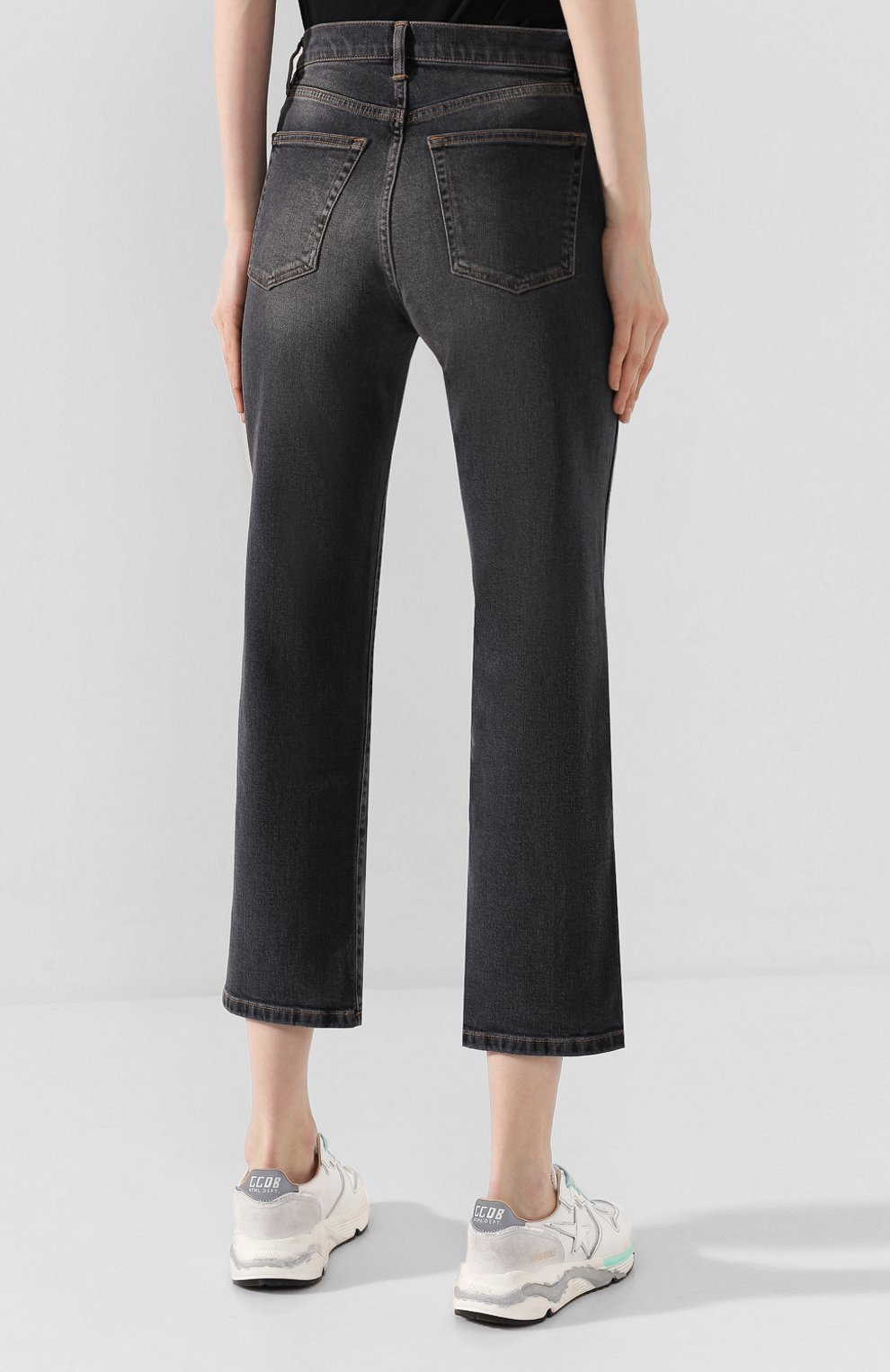Женские джинсы 3X1 серого цвета, арт. WP0270966/TRAVIS | Фото 4