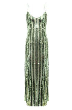 Женское платье с пайетками GALVAN LONDON зеленого цвета, арт. 120SEDR002304 | Фото 1
