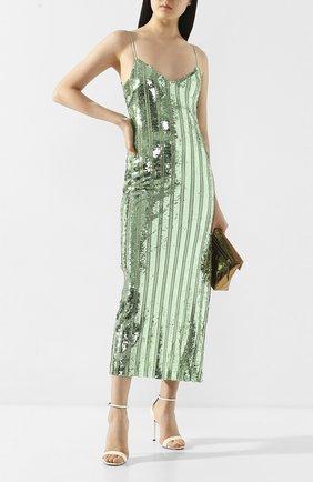 Женское платье с пайетками GALVAN LONDON зеленого цвета, арт. 120SEDR002304 | Фото 2