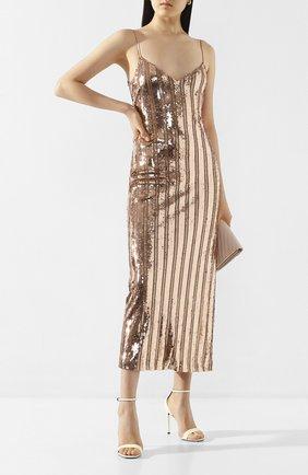 Женское платье с пайетками GALVAN LONDON розового цвета, арт. 120SEDR002303 | Фото 2