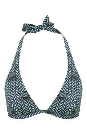 Женский треугольный бра VILEBREQUIN зеленого цвета, арт. FLCU0H12 | Фото 1