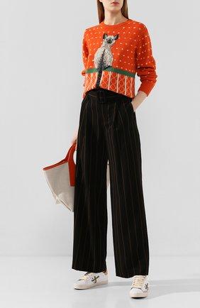 Женские брюки из вискозы VINCE черного цвета, арт. V654021776 | Фото 2