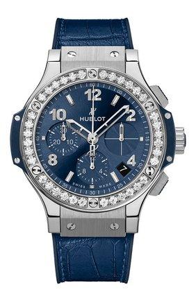 Женские часы big bang steel blue diamonds HUBLOT синего цвета, арт. 341.SX.7170.LR.1204 | Фото 1