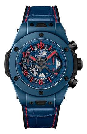 Мужские часы big bang unico special one HUBLOT синего цвета, арт. 411.EX.5113.LR.SPO18 | Фото 1