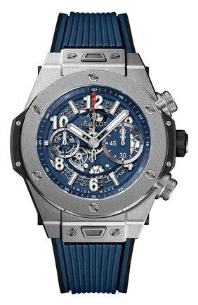 Мужские часы big bang unico titanium blue HUBLOT бесцветного цвета, арт. 411.NX.5179.RX | Фото 1