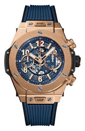 Мужские часы big bang unico king gold blue HUBLOT синего цвета, арт. 411.OX.5189.RX | Фото 1